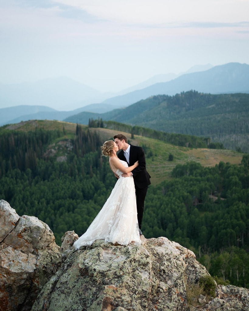 wedding day elopement in the mountains