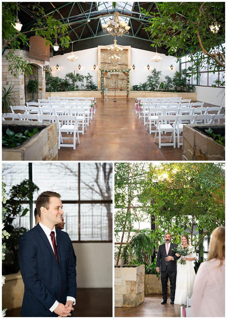 Greenhouse venue ceremony